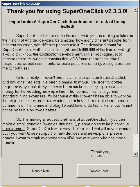 SuperOneClick 2.3 donate